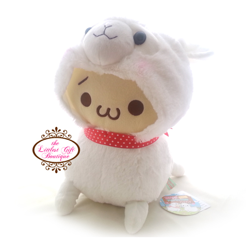 Alpacasso Emoticons Baby Alpaca Costume L White/Red 33cm