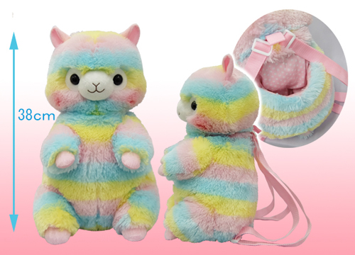 Alpacasso Backpack Alpaca Rainbow
