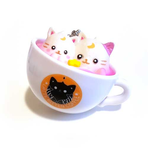 Latte Kitten Coffee Keychain Two Star 5cm