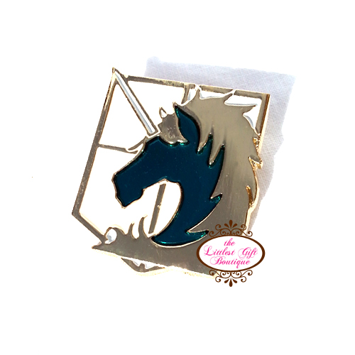 AOT Pin Gold Military Police Brigade Attack on Titan