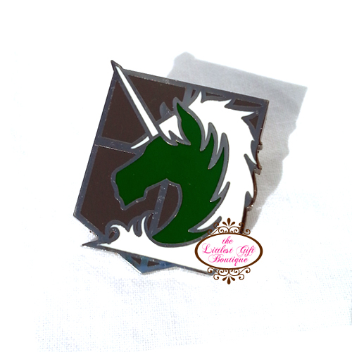 AOT Pin Silver Military Police Brigade Attack on Titan