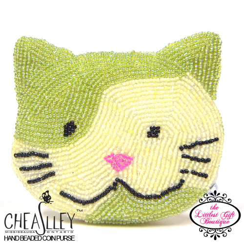 Cat Face, Green and Yellow