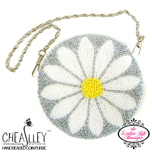 Daisy on Grey with Metal Strap