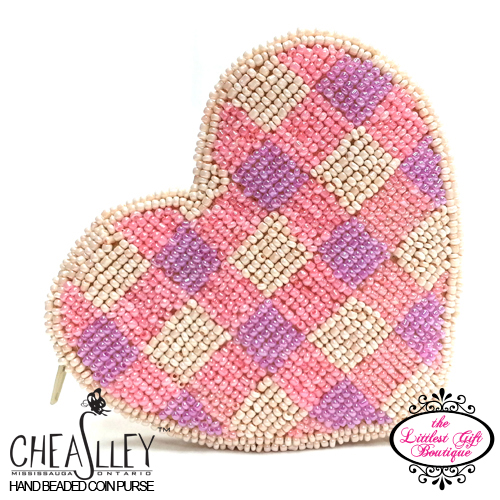 Heart White with Pink Plaid