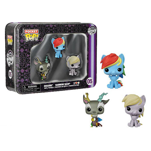 My Little Pony Pocket Pop! Mini Vinyl Figure 3-Pack Tin