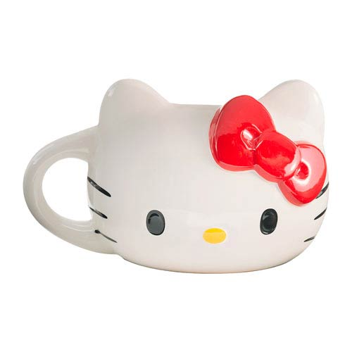 Hello Kitty Mug Head Sculpted Ceramic