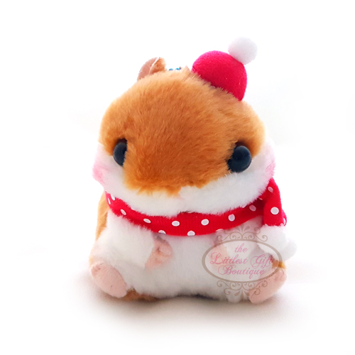Koro Koron Hamster Winter Keychain Brown