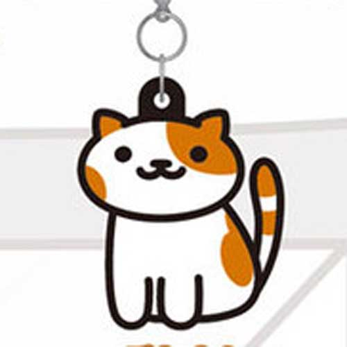Neko Atsume Rubber Straps - Patches White/Brown