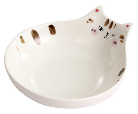Neko Naughty Cat Porcelain Bowl Wink
