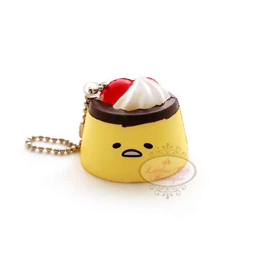 Gudetama Gachapon Keychain Squishy Pudding