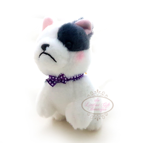 Mameshiba Dressed Up Keychain Black/White 9cm