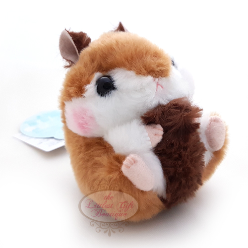 Koro Koron Hamster Forest Walk Keychain Dark Brown 9cm