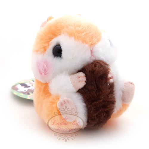 Koro Koron Hamster Forest Walk Keychain Orange 9cm