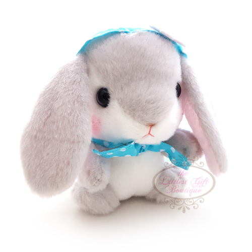 Pote Usa Loppy Rabbit Bonnet M Grey 14cm