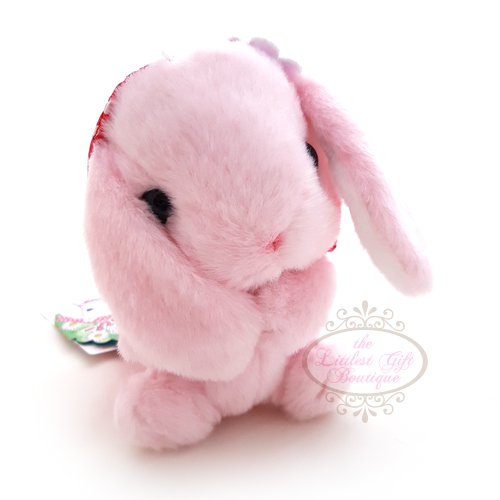 Pote Usa Loppy Rabbit Bonnet M Pink 14cm