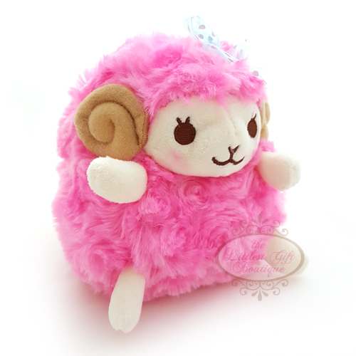 Wooly the Sheep Heartful Girly M Hot Pink 13cm