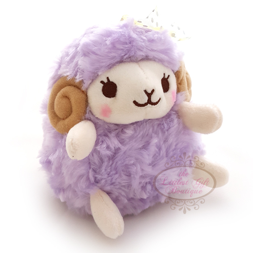 Wooly the Sheep Heartful Girly M Purple 13cm