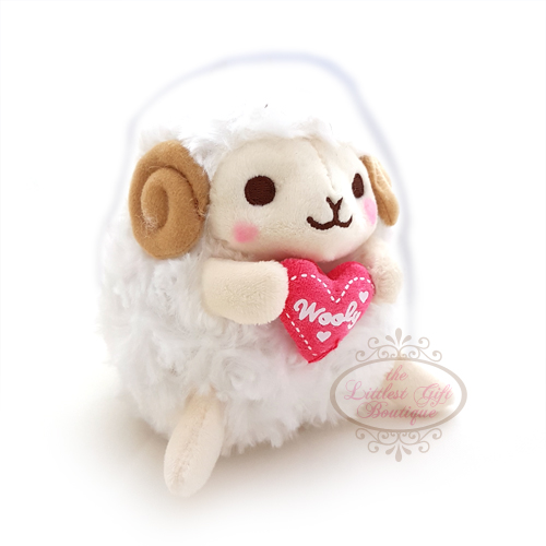 Wooly the Sheep Heartful Girly M White 13cm