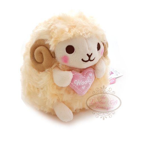 Wooly the Sheep Heartful Girly M Yellow 13cm