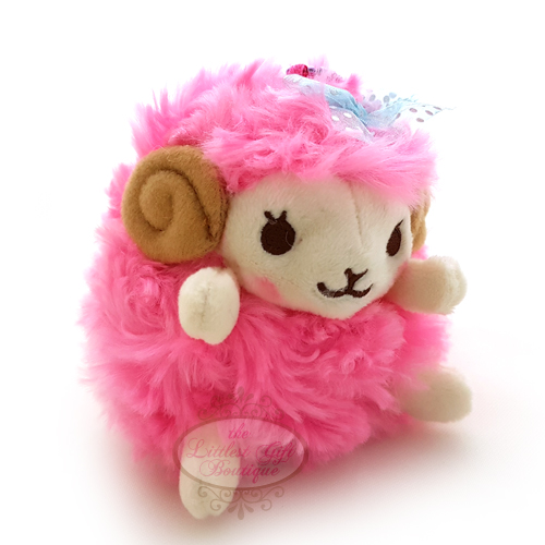 Wooly the Sheep Heartful Girly Keychain Hot Pink 10cm