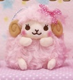 Wooly the Sheep Heartful Girly Keychain Pink 10cm