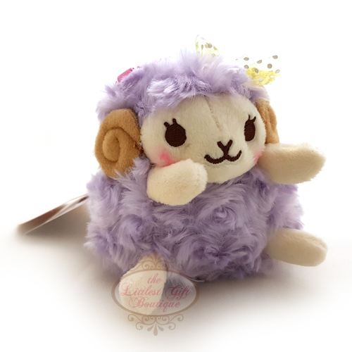 Wooly the Sheep Heartful Girly Keychain Purple 10cm