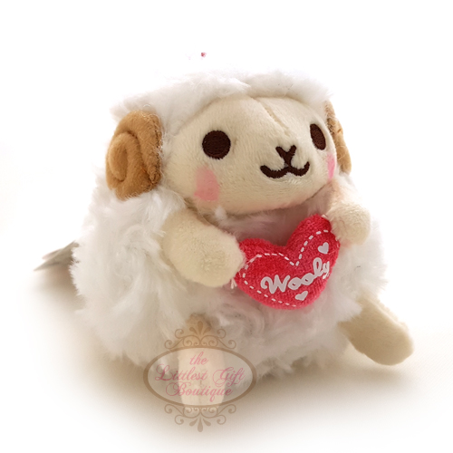 Wooly the Sheep Heartful Girly Keychain White 10cm