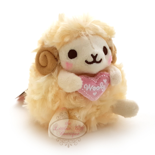 Wooly the Sheep Heartful Girly Keychain Yellow 10cm