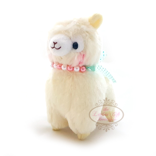 Alpacasso Pearl Ribbon Keychain 12cm Yellow