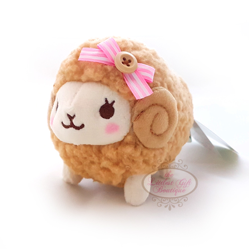 Wooly the Sheep Natural Keychain 10cm Brown