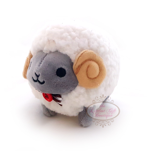 Wooly the Sheep Natural Keychain 10cm Grey Face