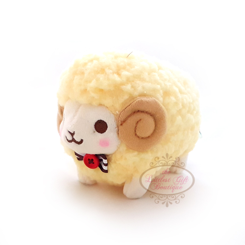 Wooly the Sheep Natural Keychain 10cm Yellow