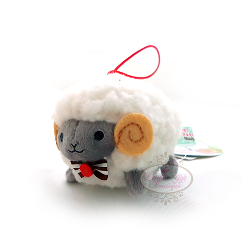 Wooly the Sheep Natural S 6cm Grey Face