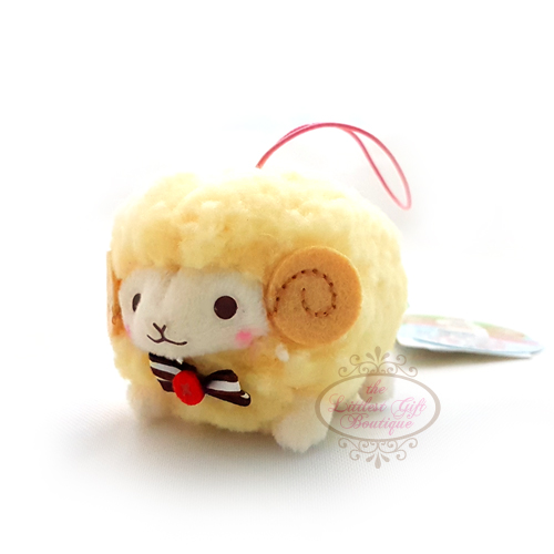 Wooly the Sheep Natural S 6cm Yellow