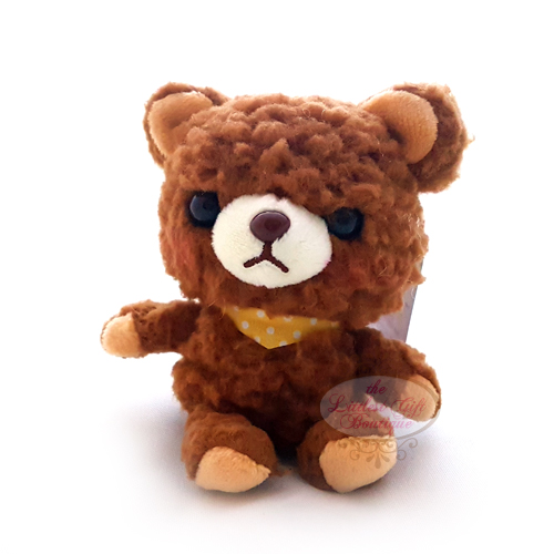 Teddy Sewing Bear Keychain Brown 9cm