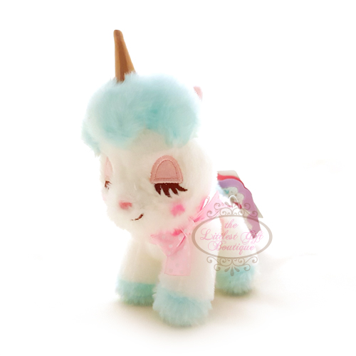 Unicorn Pastel Keychain White and Blue