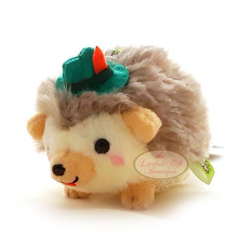 Hedgehog Party Keychain Green Hat