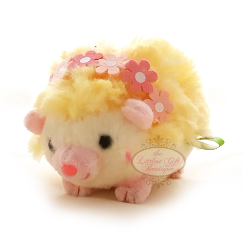 Hedgehog Party Keychain Yellow