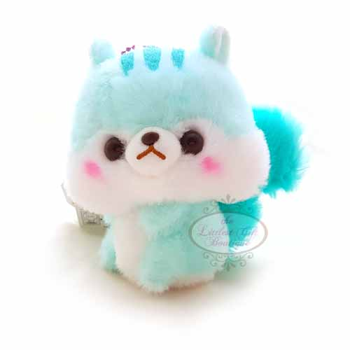 Squirrel Keychain Blue