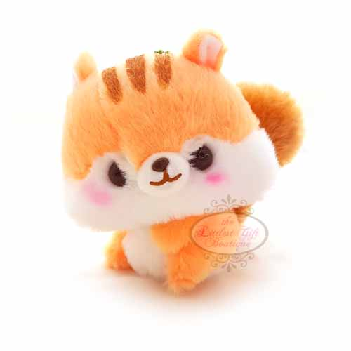 Squirrel Keychain Orange