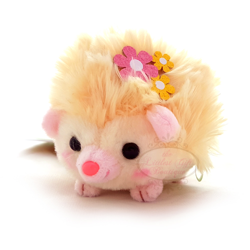 Hedgehog Flowers Keychain Yellow