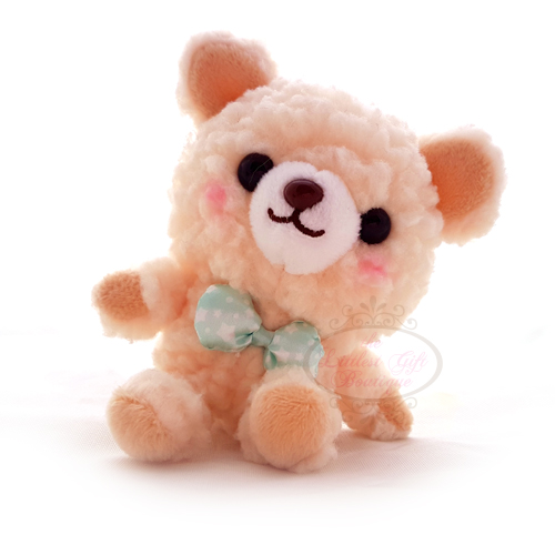 Teddy Sewing Bear Dress Up Keychain Beige 9cm