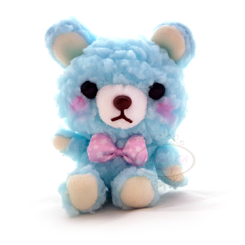 Teddy Sewing Bear Dress Up Keychain Blue 9cm