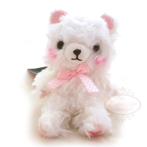 Fortune Bear Keychain White