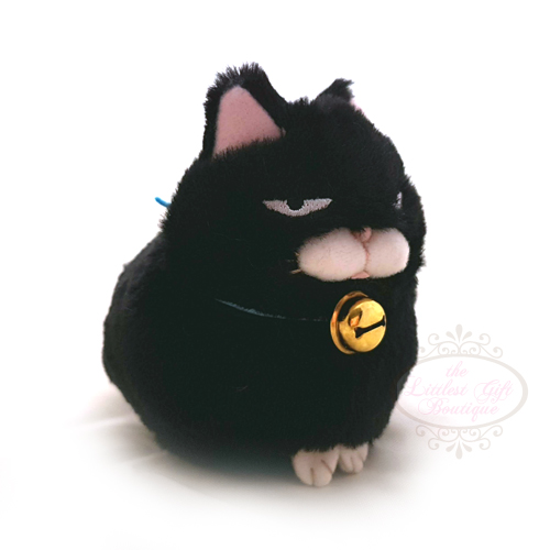 Hige Manju Cat Keychain Black