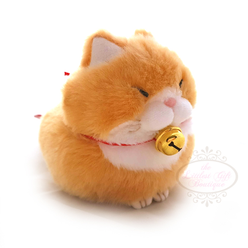 Hige Manju Cat Keychain Orange