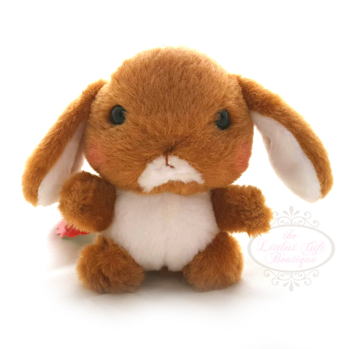 Pote Usa Loppy Keychain Brown