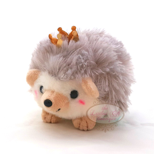 Hedgehog Crown Keychain Brown