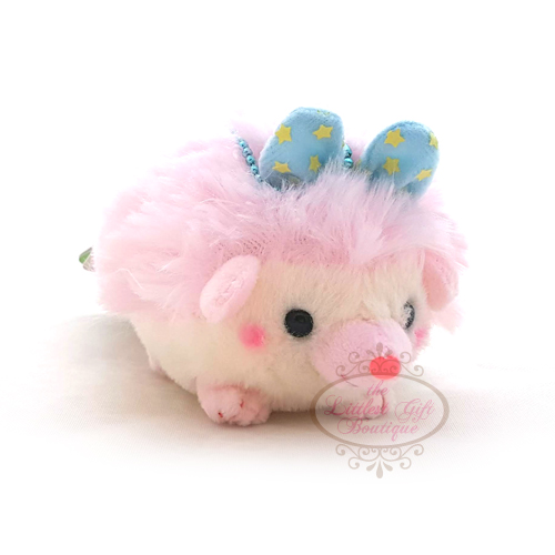 Hedgehog Crown Keychain Pink
