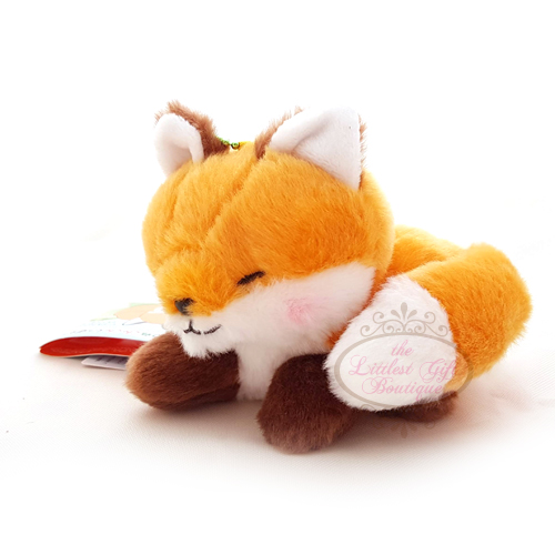 Fox Lying Down Keychain Orange